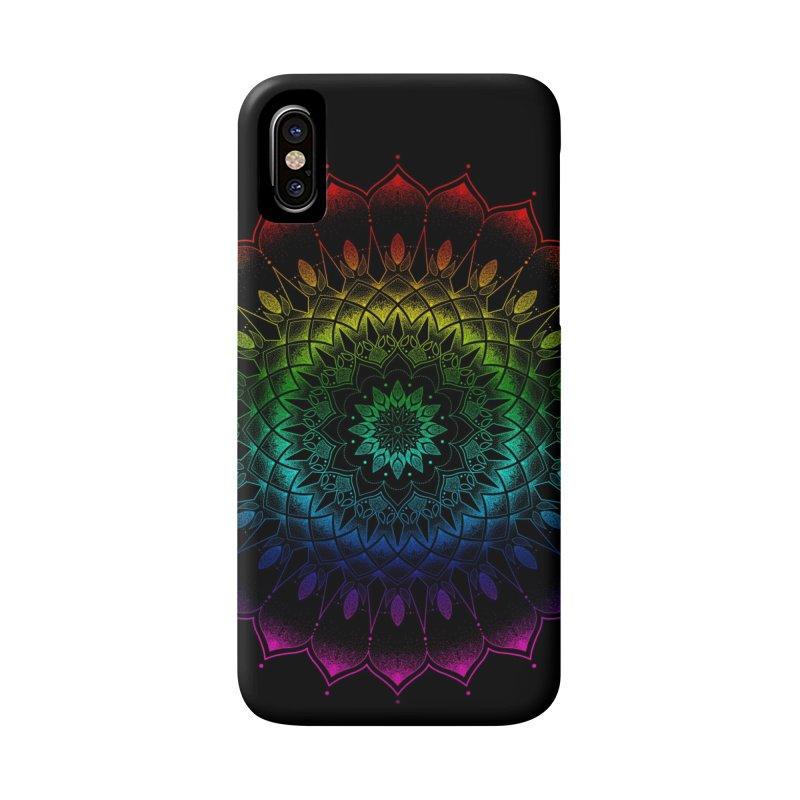 Rainbow Mandala Accessories Phone Case by Jocelyn Tattoo