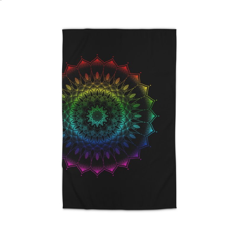 Rainbow Mandala Home Rug by Jocelyn Tattoo