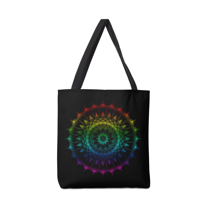 Rainbow Mandala Accessories Bag by Jocelyn Tattoo