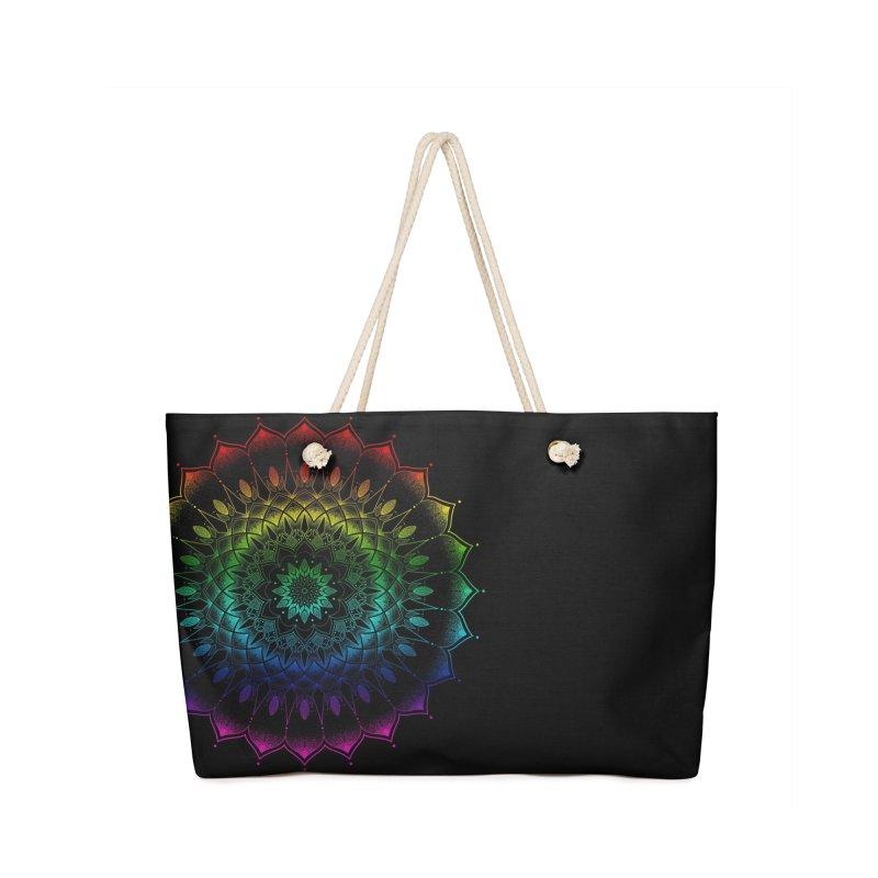 Rainbow Mandala Accessories Bag by Jocelyn Tattoo