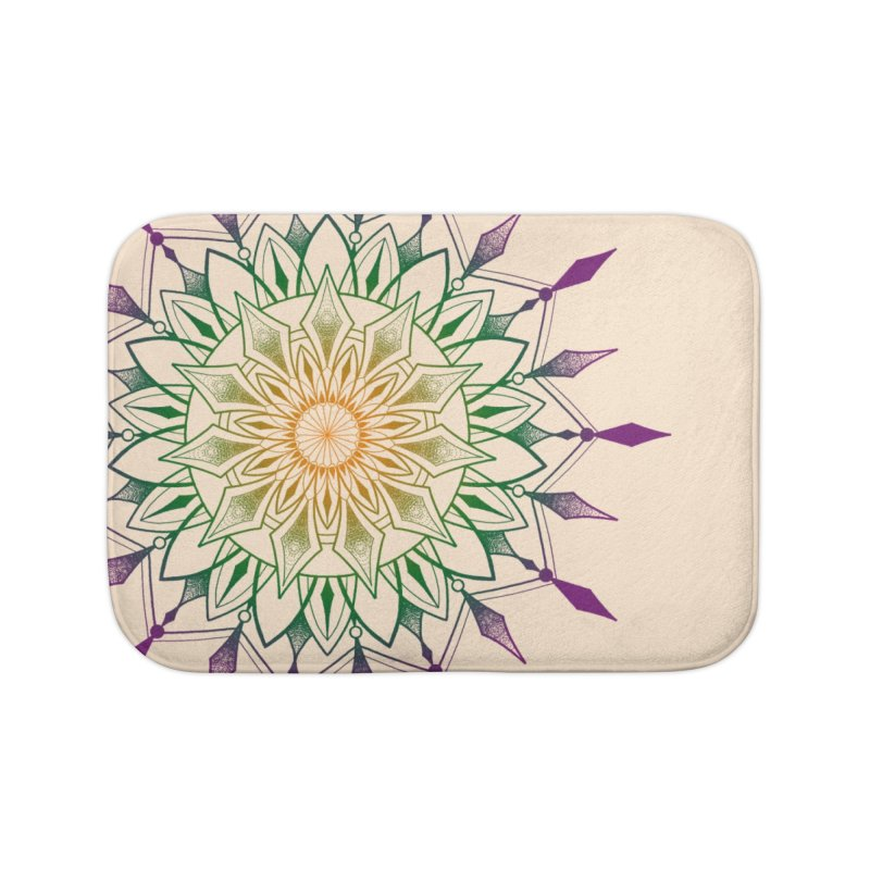 Purple Mandala Home Bath Mat by Jocelyn Tattoo