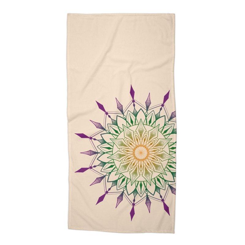 Purple Mandala Accessories Beach Towel by Jocelyn Tattoo