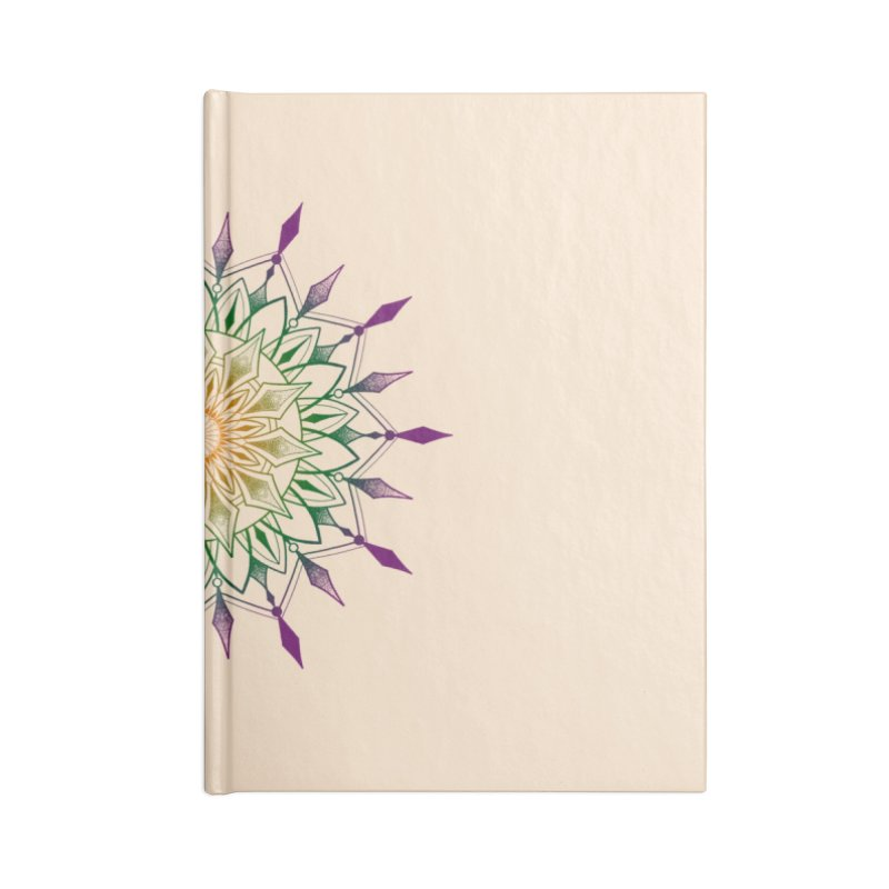 Purple Mandala Accessories Lined Journal Notebook by Jocelyn Tattoo