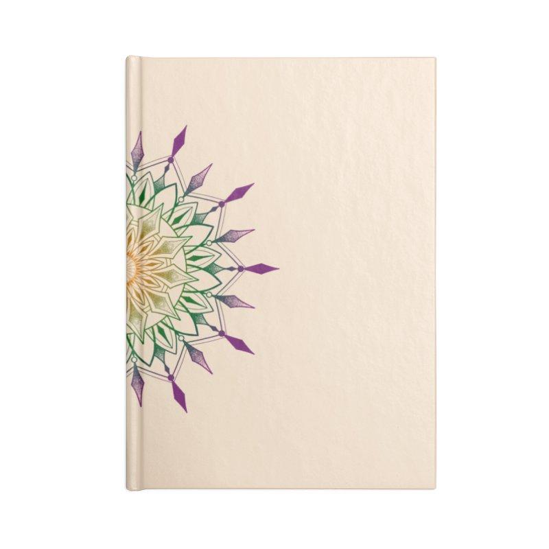 Purple Mandala Accessories Blank Journal Notebook by Jocelyn Tattoo