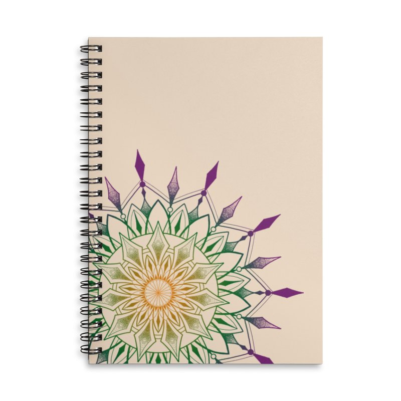 Purple Mandala Accessories Lined Spiral Notebook by Jocelyn Tattoo