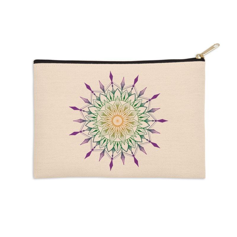 Purple Mandala Accessories Zip Pouch by Jocelyn Tattoo