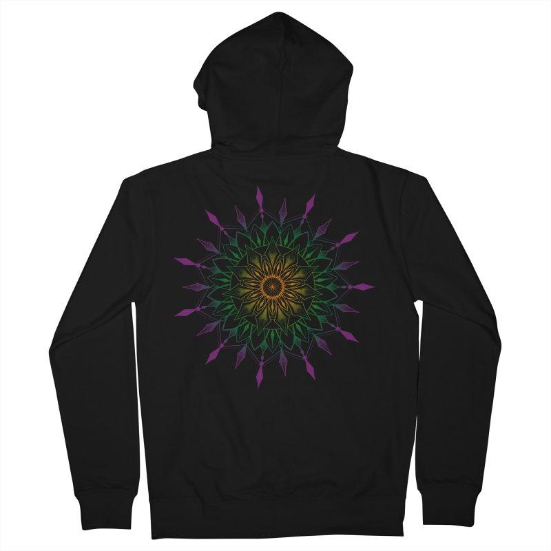 Purple Mandala Men's Zip-Up Hoody by Jocelyn Tattoo