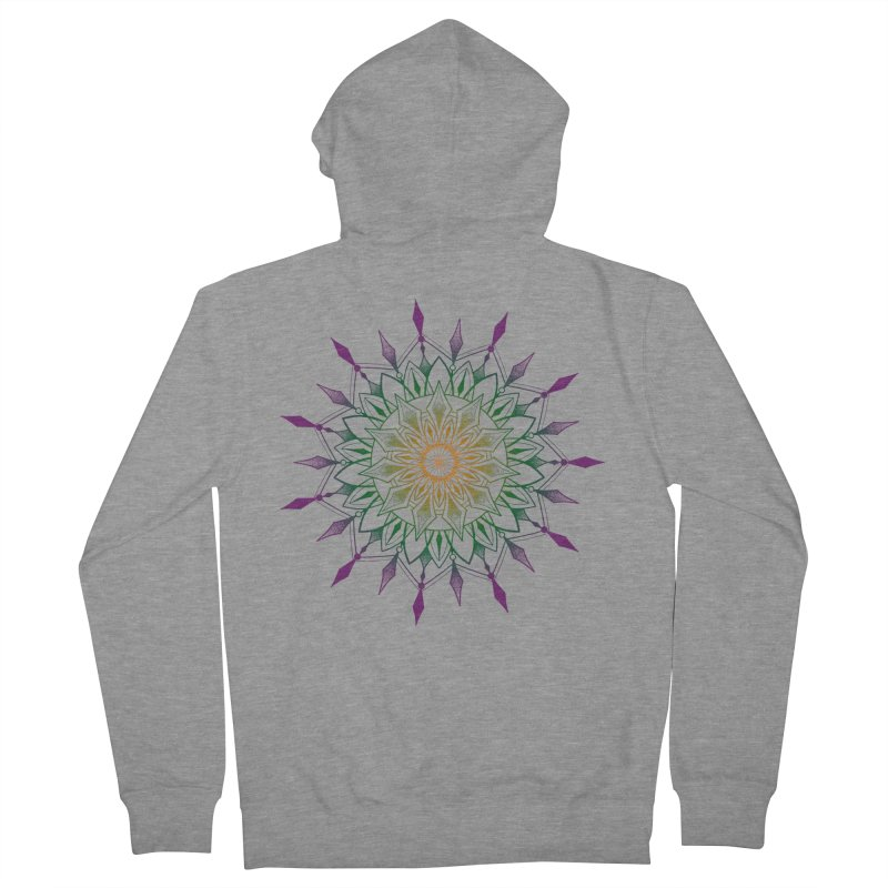 Purple Mandala Women's French Terry Zip-Up Hoody by Jocelyn Tattoo