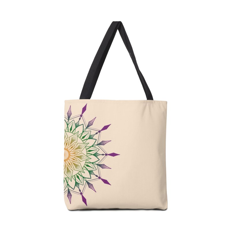 Purple Mandala Accessories Tote Bag Bag by Jocelyn Tattoo