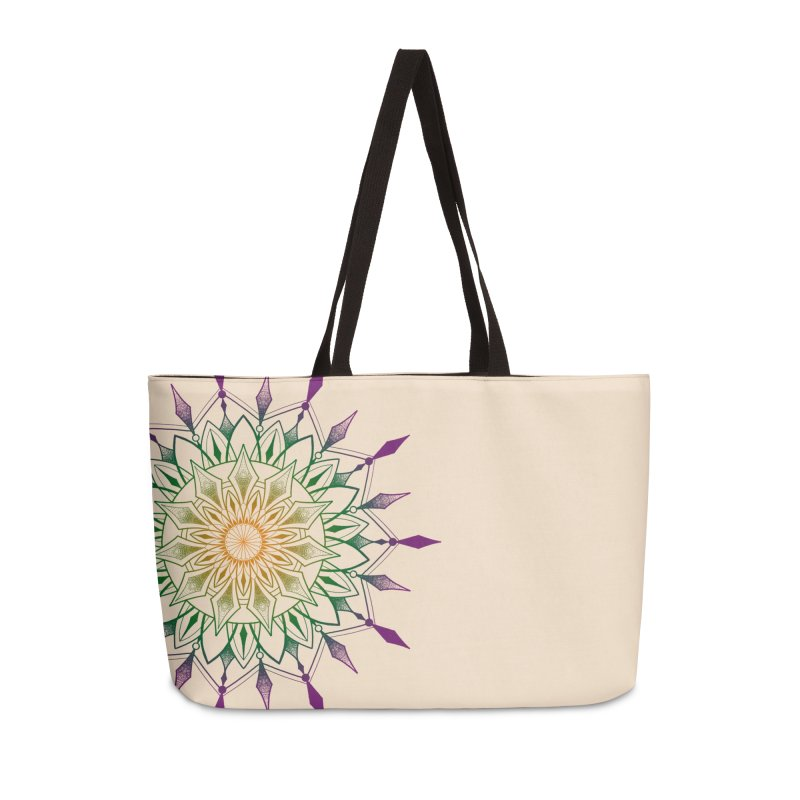 Purple Mandala Accessories Weekender Bag Bag by Jocelyn Tattoo