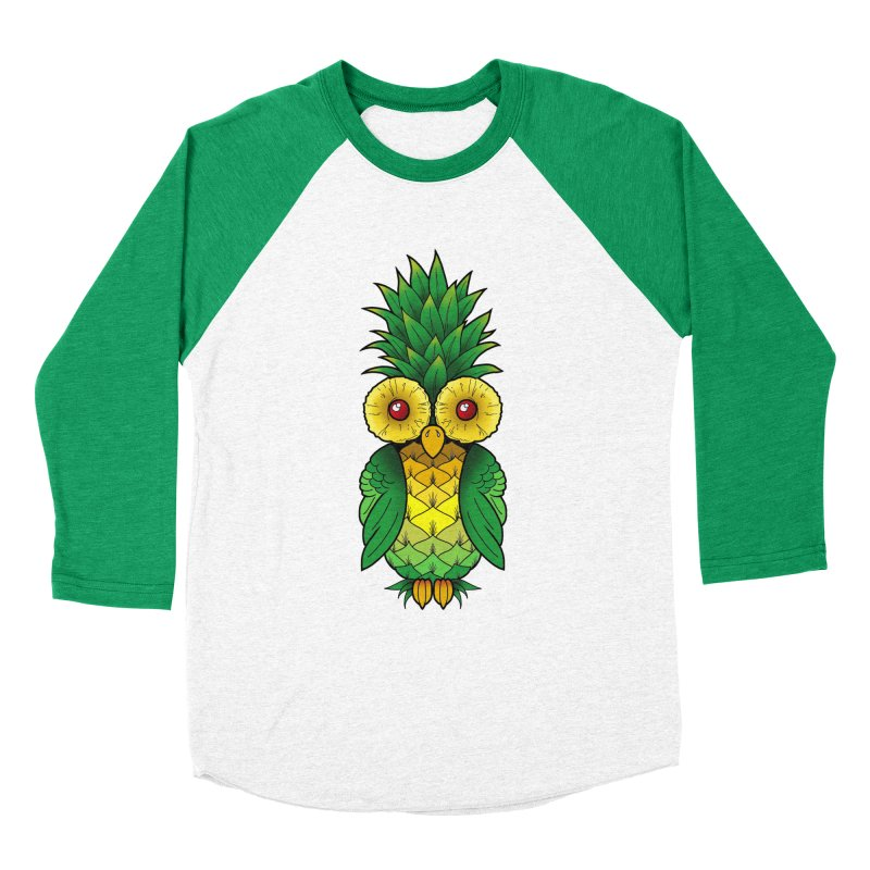 Pineappowl in Men's Baseball Triblend Longsleeve T-Shirt Tri-Kelly Sleeves by Jocelyn Tattoo