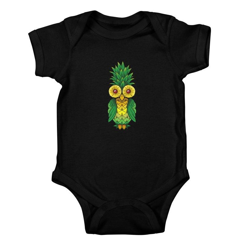 Pineappowl Kids Baby Bodysuit by Jocelyn Tattoo