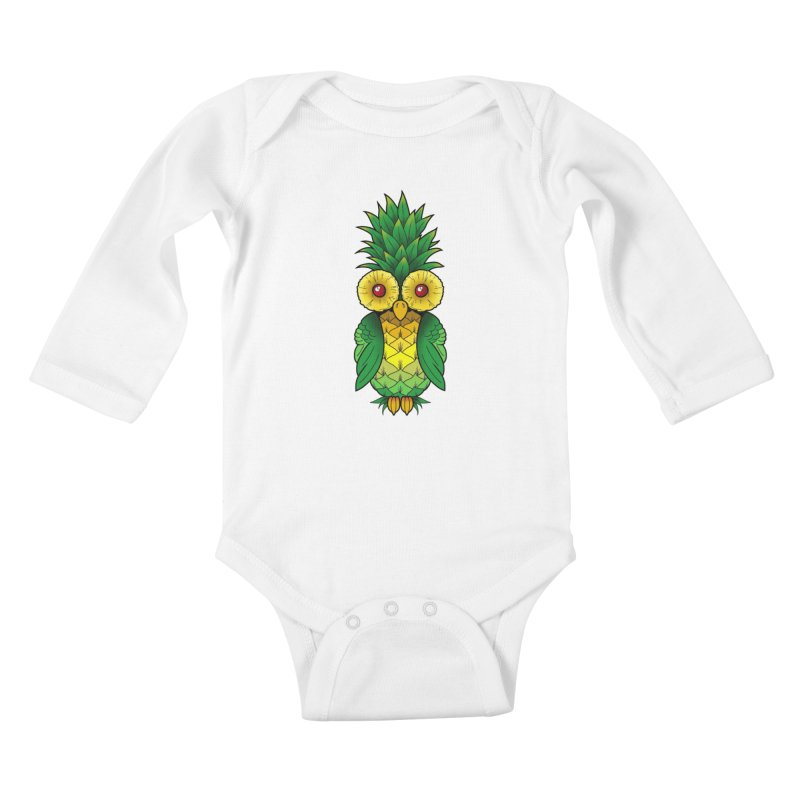 Pineappowl Kids Baby Longsleeve Bodysuit by Jocelyn Tattoo