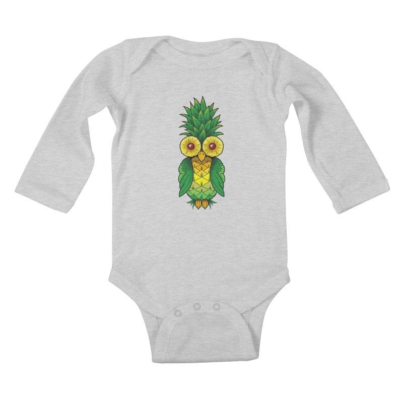 Pineappowl Kids Baby Longsleeve Bodysuit by Jocelyn Tattoo