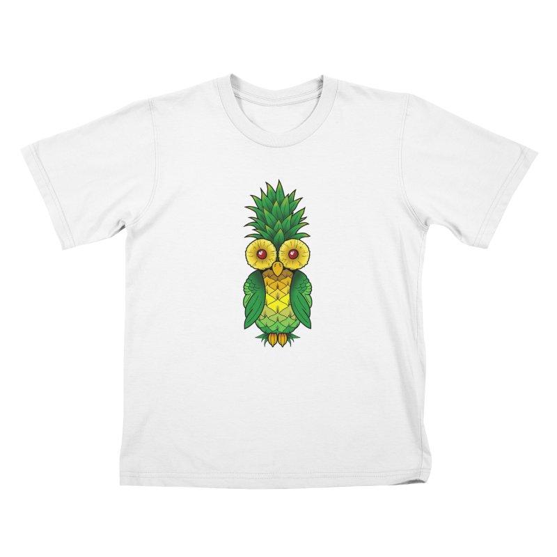 Pineappowl Kids T-Shirt by Jocelyn Tattoo
