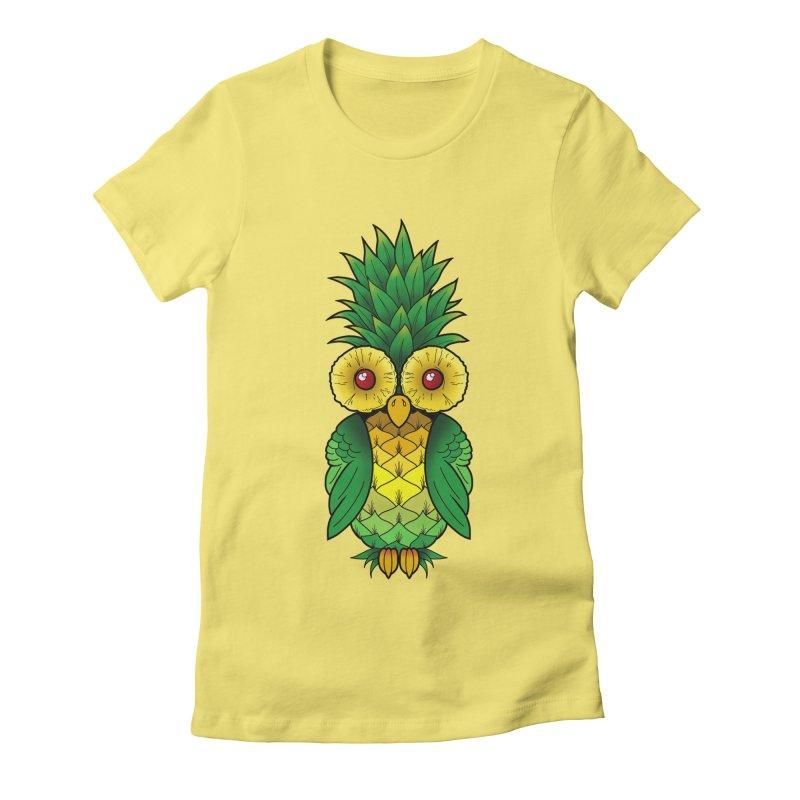 Pineappowl Women's Fitted T-Shirt by Jocelyn Tattoo