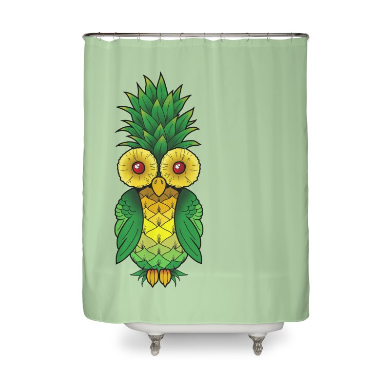 Pineappowl Home Shower Curtain by Jocelyn Tattoo