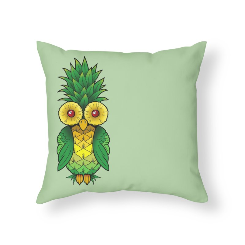 Pineappowl Home Throw Pillow by Jocelyn Tattoo
