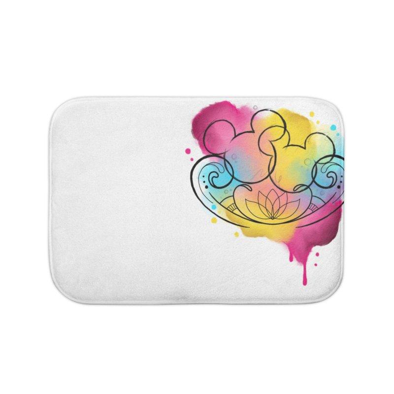 Watercolor Mickey Home Bath Mat by Jocelyn Tattoo