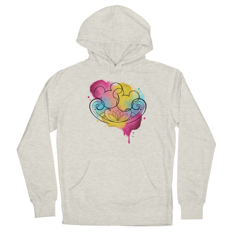 Watercolor Mickey Women's French Terry Pullover Hoody by Jocelyn Tattoo
