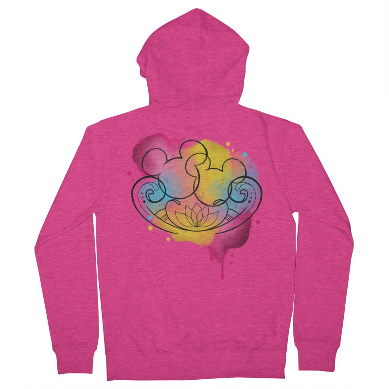 Watercolor Mickey Women's French Terry Zip-Up Hoody by Jocelyn Tattoo
