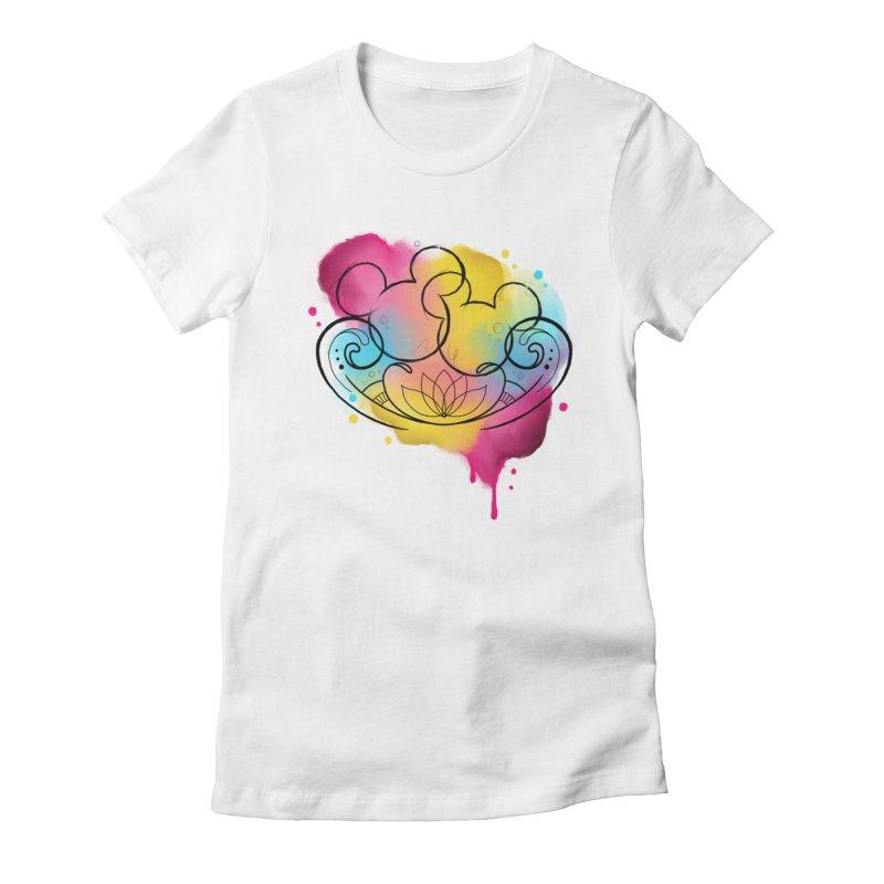 Watercolor Mickey Women's Fitted T-Shirt by Jocelyn Tattoo