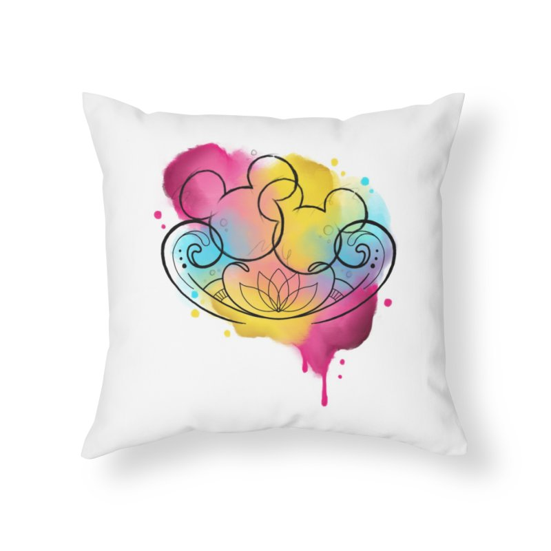 Watercolor Mickey Home Throw Pillow by Jocelyn Tattoo