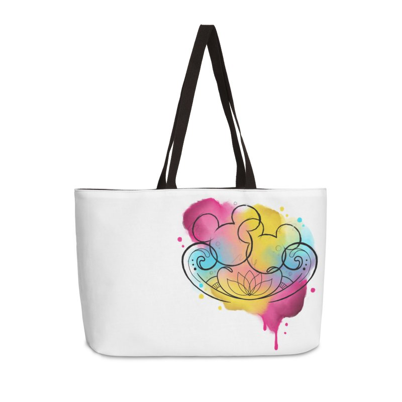 Watercolor Mickey Accessories Weekender Bag Bag by Jocelyn Tattoo