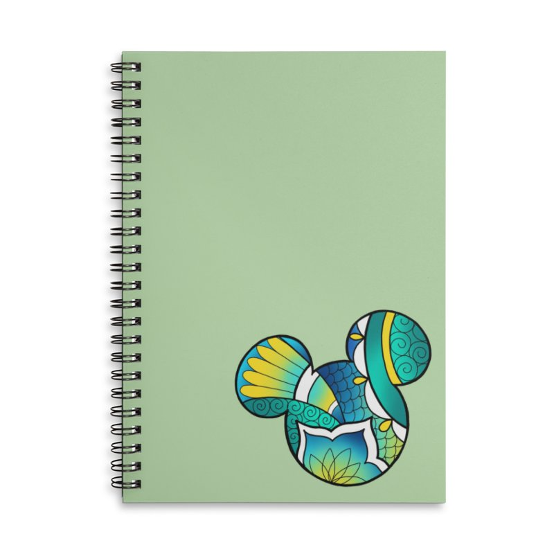 Ornamental Mickey Accessories Lined Spiral Notebook by Jocelyn Tattoo