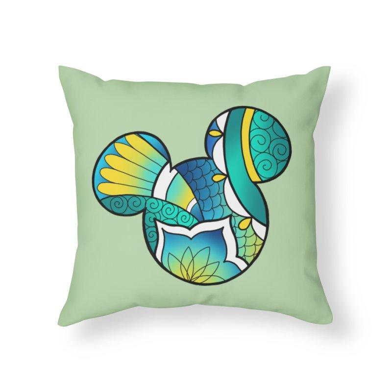 Ornamental Mickey Home Throw Pillow by Jocelyn Tattoo