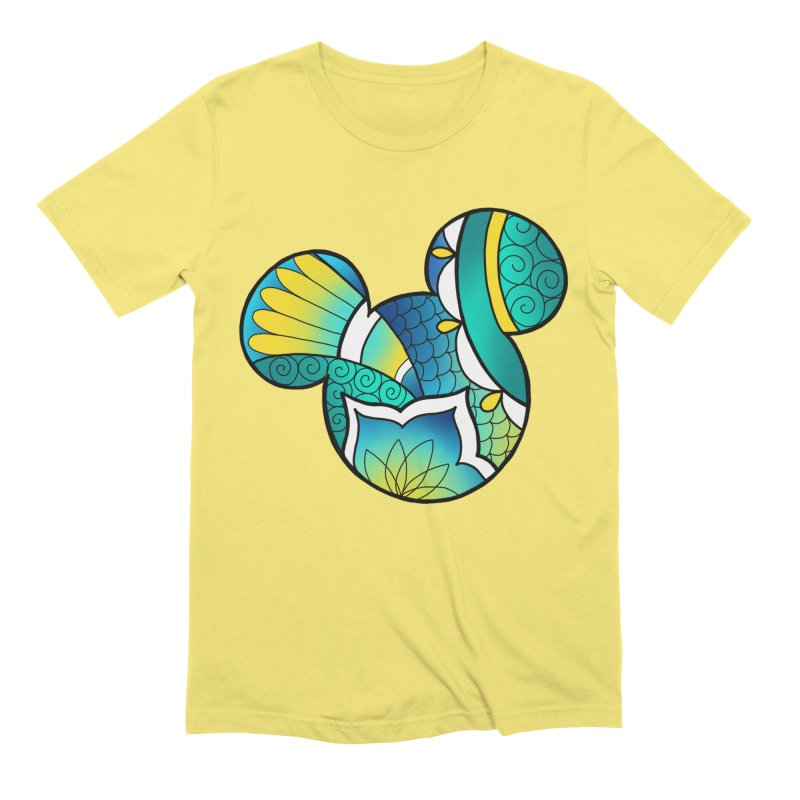 Ornamental Mickey in Men's Extra Soft T-Shirt Light Yellow by Jocelyn Tattoo