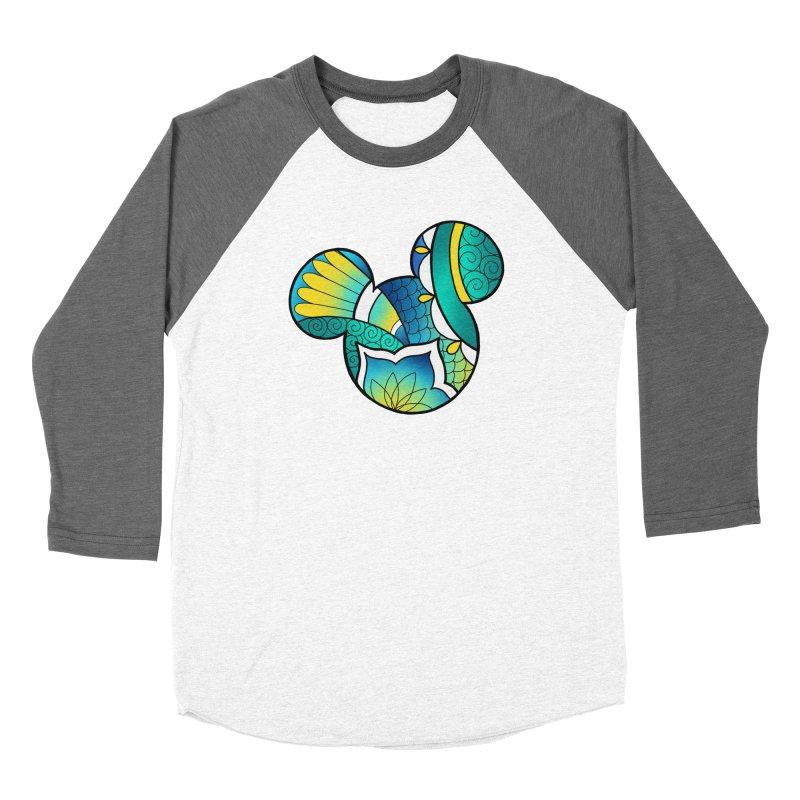 Ornamental Mickey Men's Baseball Triblend Longsleeve T-Shirt by Jocelyn Tattoo
