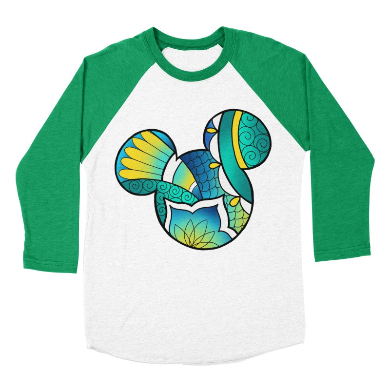 Ornamental Mickey Women's Baseball Triblend Longsleeve T-Shirt by Jocelyn Tattoo
