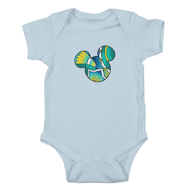 Ornamental Mickey Kids Baby Bodysuit by Jocelyn Tattoo