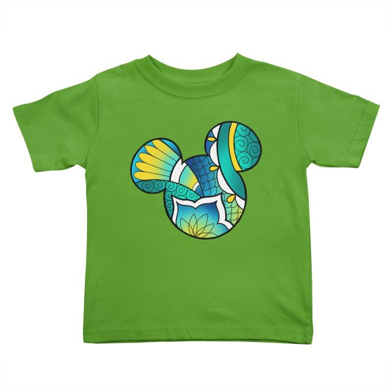 Ornamental Mickey Kids Toddler T-Shirt by Jocelyn Tattoo