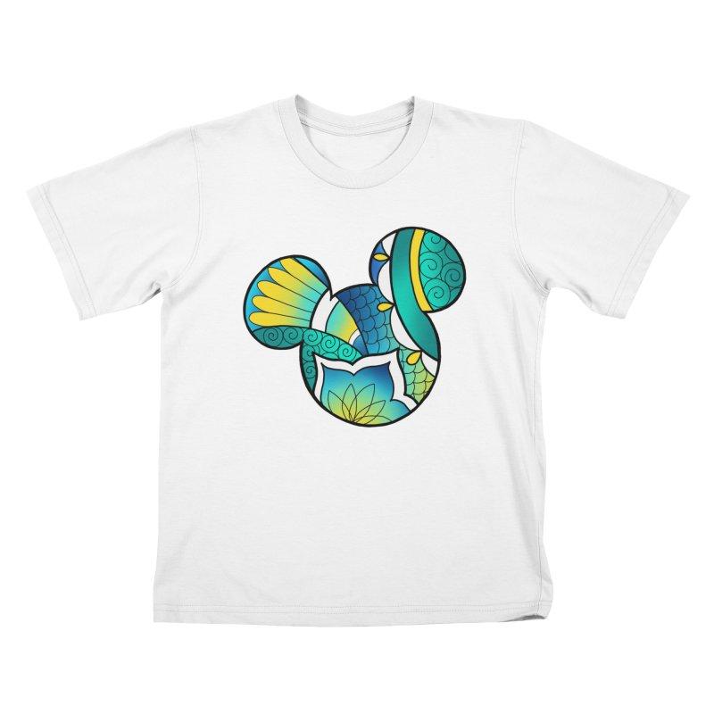 Ornamental Mickey Kids T-Shirt by Jocelyn Tattoo