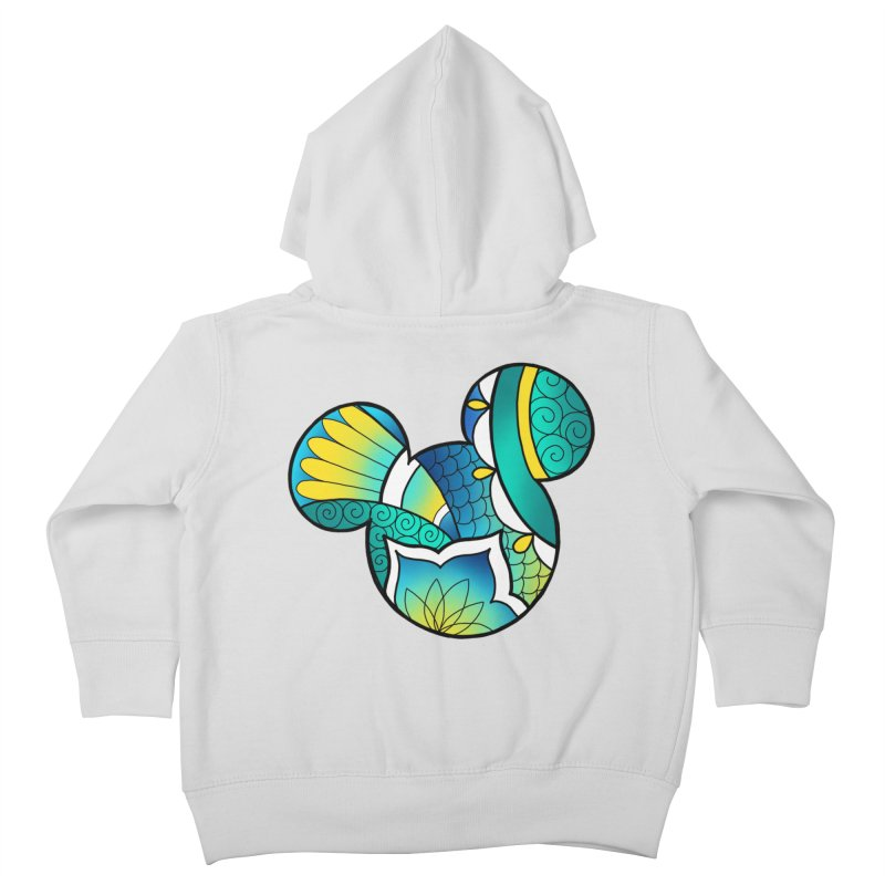 Ornamental Mickey Kids Toddler Zip-Up Hoody by Jocelyn Tattoo