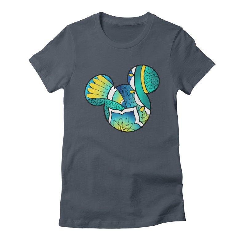 Ornamental Mickey Women's Fitted T-Shirt by Jocelyn Tattoo