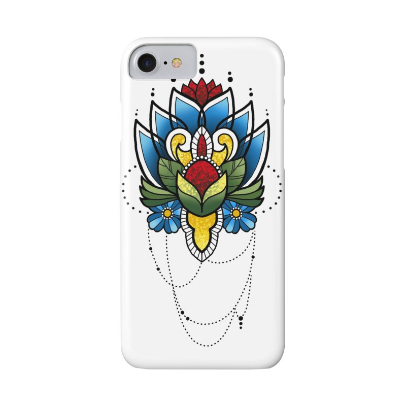 Ornamental Bloom in iPhone 8 Phone Case Slim by Jocelyn Tattoo