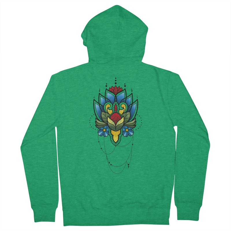 Ornamental Bloom Women's French Terry Zip-Up Hoody by Jocelyn Tattoo