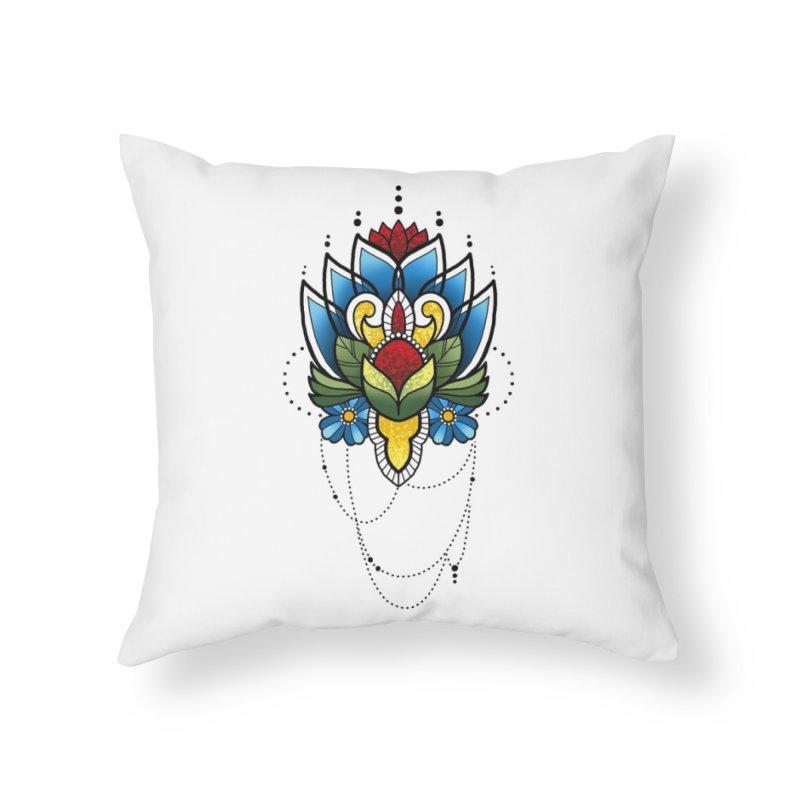 Ornamental Bloom Home Throw Pillow by Jocelyn Tattoo