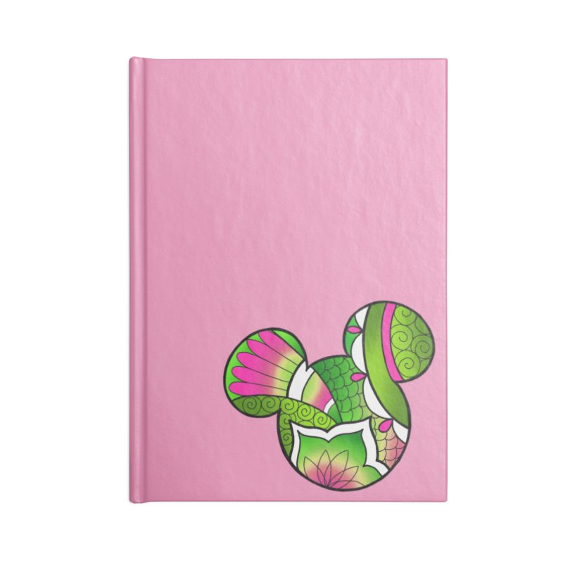 Ornamental Mickey Green Accessories Lined Journal Notebook by Jocelyn Tattoo