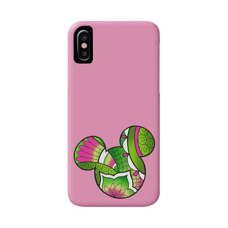 Ornamental Mickey Green Accessories Phone Case by Jocelyn Tattoo