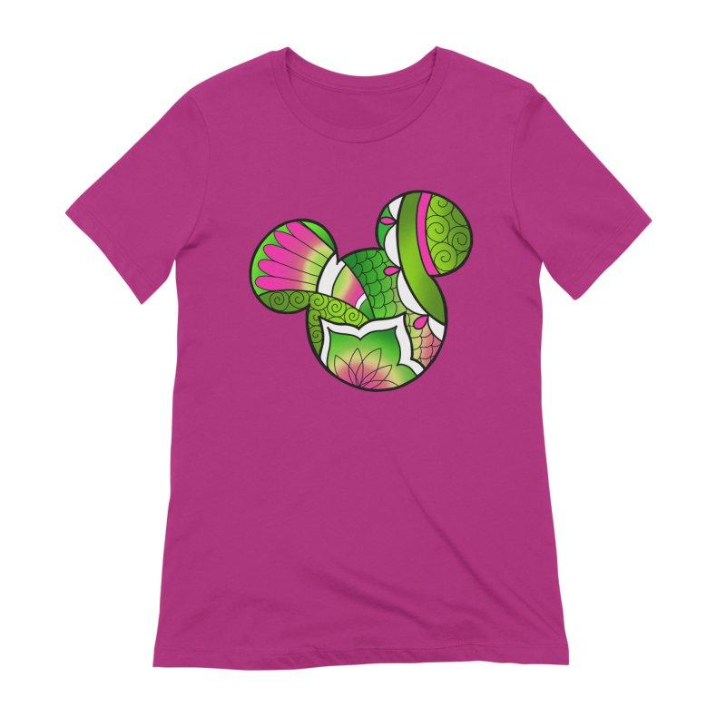 Ornamental Mickey Green Women's Extra Soft T-Shirt by Jocelyn Tattoo