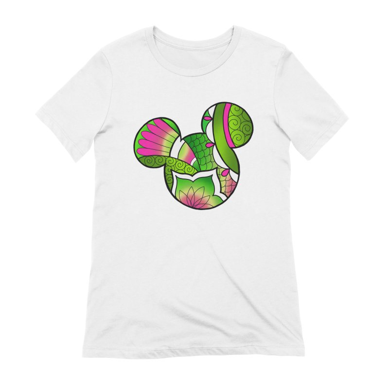 Ornamental Mickey Green Women's Extra Soft T-Shirt by Jocelyn Tattoo