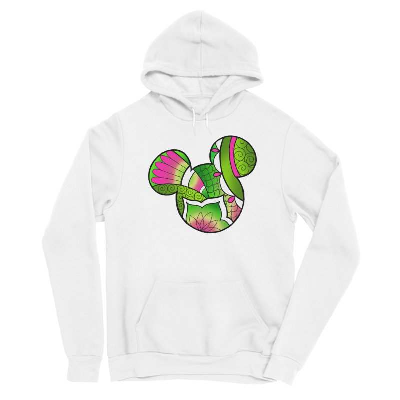Ornamental Mickey Green Women's Sponge Fleece Pullover Hoody by Jocelyn Tattoo