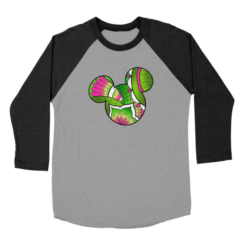 Ornamental Mickey Green Men's Baseball Triblend Longsleeve T-Shirt by Jocelyn Tattoo