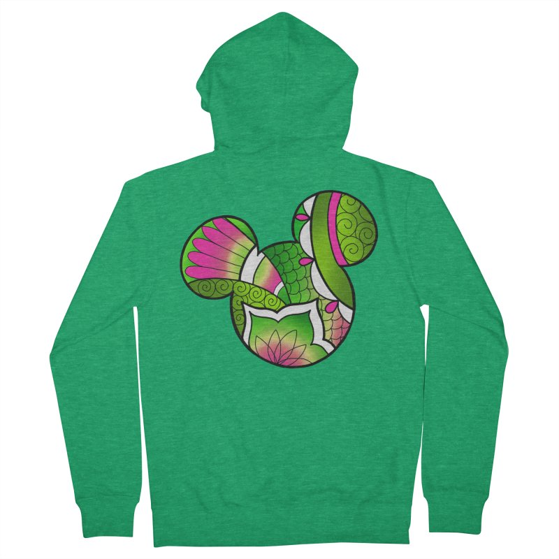 Ornamental Mickey Green Men's Zip-Up Hoody by Jocelyn Tattoo