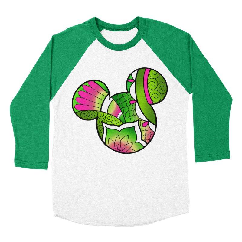 Ornamental Mickey Green Women's Baseball Triblend Longsleeve T-Shirt by Jocelyn Tattoo
