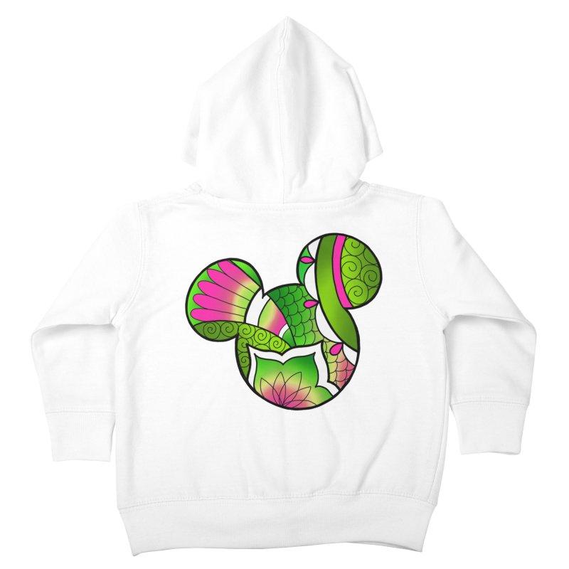 Ornamental Mickey Green Kids Toddler Zip-Up Hoody by Jocelyn Tattoo